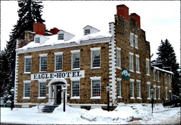 FLBHS Eagle Hotel with snow